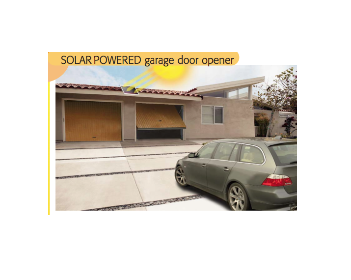 8990 Solar Powered Garage Door Opener Torantriebeshop